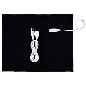 WALFRONT Almohadilla de calefacción, 5V USB Calentador de Tela eléctrico Calentador de Almohadilla Elemento para