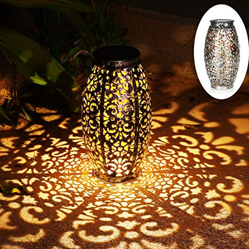 Solar Lantern Lights for Hanging or Table Outdoor Solar Light for Patio Courtyard Garden -