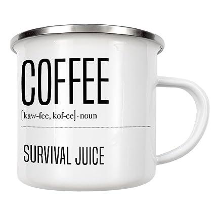 artboxONE taza de comida y bebida café definición Edition, Enamel Mug