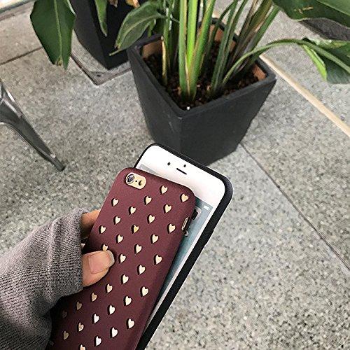 Merssavo Wein Rot 3D Cartoon Pierced Love Sawaii Food Silikon TPU Phone Case Cover Back für das IPhone 7