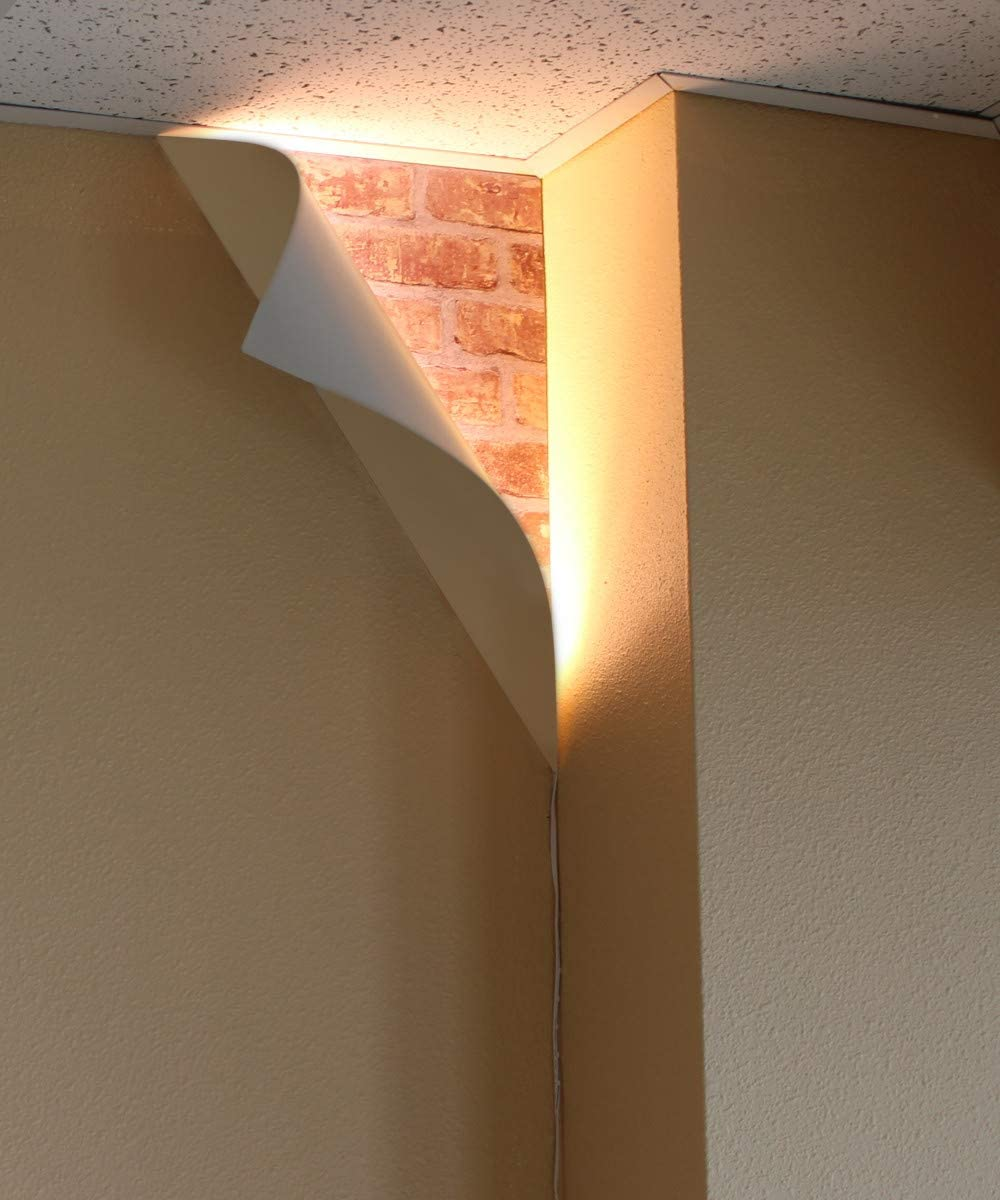 Big Reveal Led Corner Light 18 White Curved Metal Amazon Com