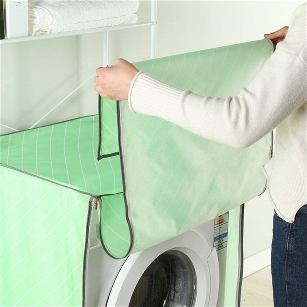 Washing machine cover Oxford Washing Machine Dust Cover Drum Pulser Automatic Straight Washing Machine Cover To Prevent Washing Machine Surface Scratches Suitable for most top or front load washer dry