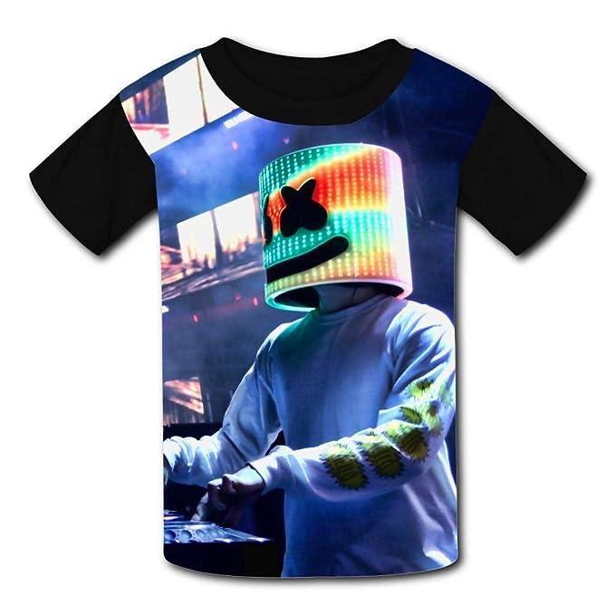 c53da2a3e6f2 Amazon.com: LOGvvl Youth T-Shirt, Cool Dj Marsh-Mell-o Club Hipster Print  Short Sleeve 3D Print Kids Boy Girl Tees: Clothing