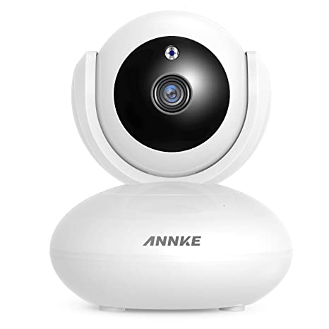 ANNKE 1080P IP Camera, Smart Wireless Pan/Tilt Home Security Camera, APP  Alarm Push, Two-Way Audio, Support 64GB TF Card, Cloud Storage Available,