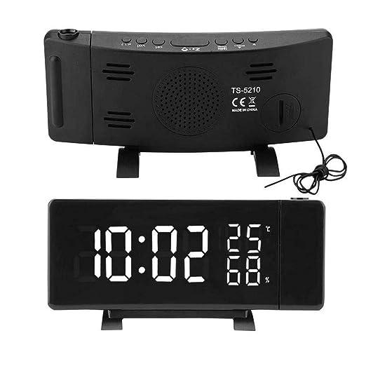 Proyector Digital Reloj De Alarma Radio FM Reloj, LED Radio ...