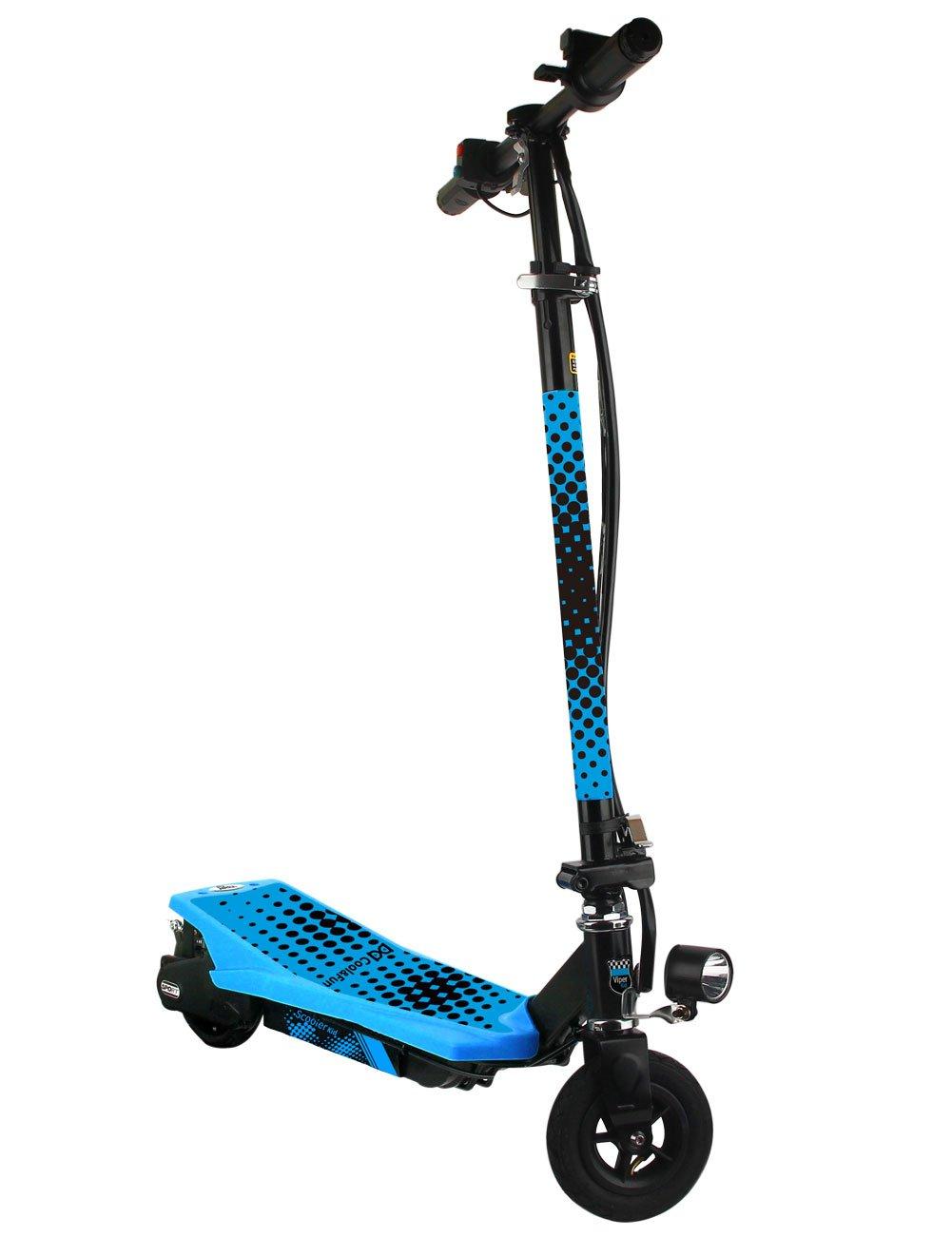 Cool&Fun Scooter Eléctrico Plegable 150W (Blue): Amazon.es ...