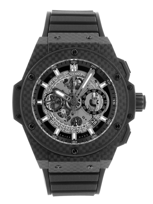 [ウブロ] 腕時計 HUBLOT 701.QX.0140.RX キングパワーウニコ オールカーボン 48ミリ 自動巻き スケルトン [中古品] [並行輸入品] B07D7SQ4MC