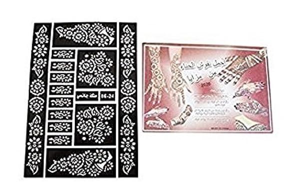 Henna Mehndi Stickers : Sheets henna stickers tattoo bodyart mehndi stencil art ladies