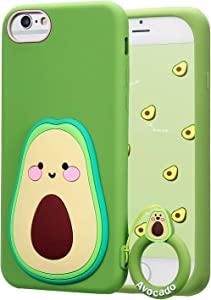 Coralogo for iPhone 6/7/8/6S/SE 2020 Case,3D Cute Cartoon Funny Fruit Soft Silicone Character Design Skin Kawaii Fashion Cool Fun Cover Cases for Girls Teens Kids iPhone 6/7/8/6S/SE 2020 4.7