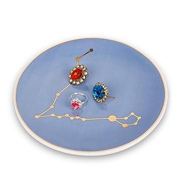 Amazon.com: Tenforie - Bandeja de cerámica para anillos de ...