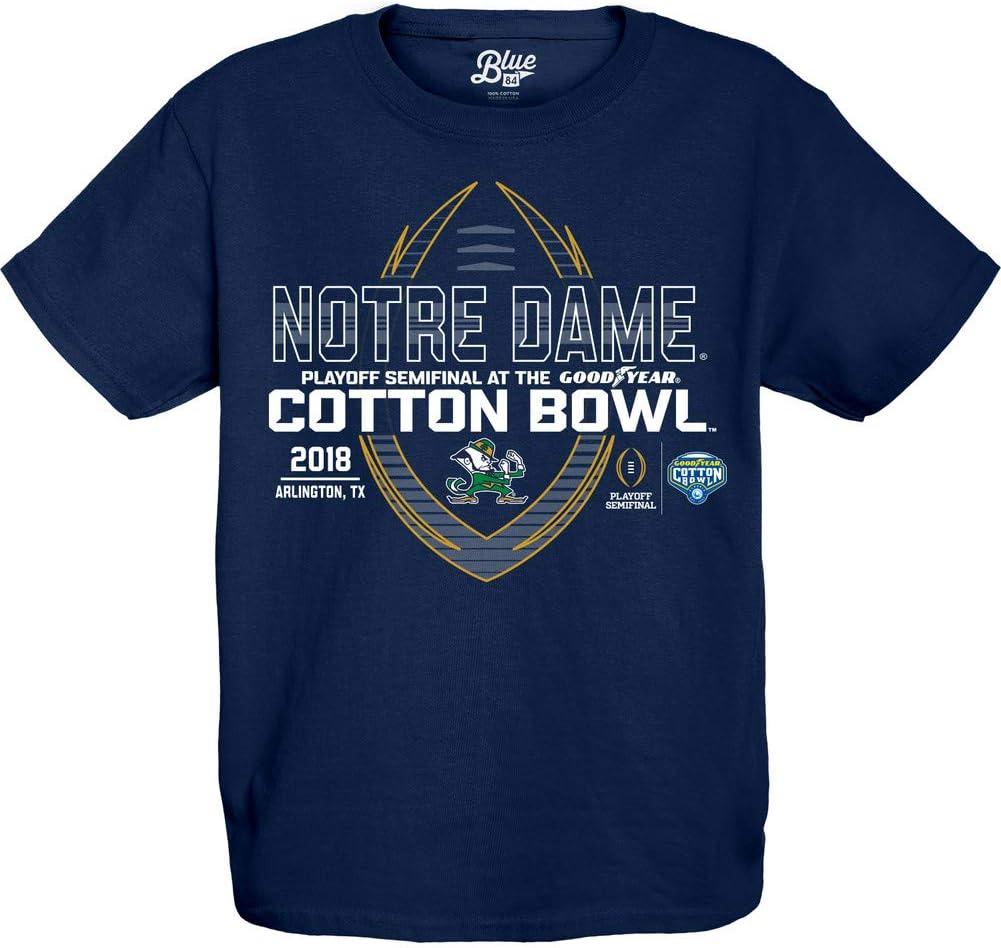 Elite Fan Shop Notre Dame Fighting Irish Cotton Bowl Kids Tshirt 2018 Spiral Navy