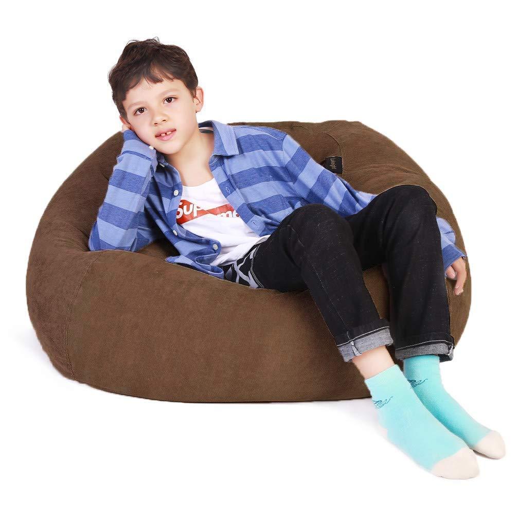 Lukeight Stuffed Animal Storage Bean Bag Chair Fits a Lot of Stuffed Animals Bean Bag Cover for Organizing Kid/'s Room X-Large//Gray