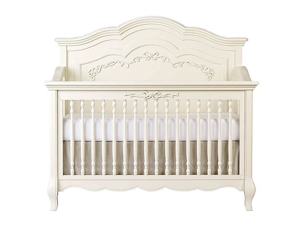 Evolor Aurora Crib Full Size Conversion Kit Bed Rails - Ivory Lace/Fair White