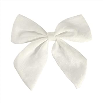 68e1c1f8e3b4 Amazon.com   Fabric Bows Hair Bow Hair Clips Sailor Bow Clips Cotton Fabric  Bow Hairgrips Girls Women Hair Accessories Headwear   Beauty