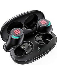True Wireless Earbuds Bluetooth 5.0 Headphones, Dual Master Direct Connect in-Ear TWS Ear Buds IPX6 Waterproof Stereo...