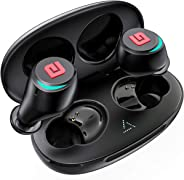 Bluetooth 5.0 True Wireless Earbuds, Sports In-Ear Truly Wireless Bluetooth Headphones Deep Bass IPX6 Sweatproof Stereo Call
