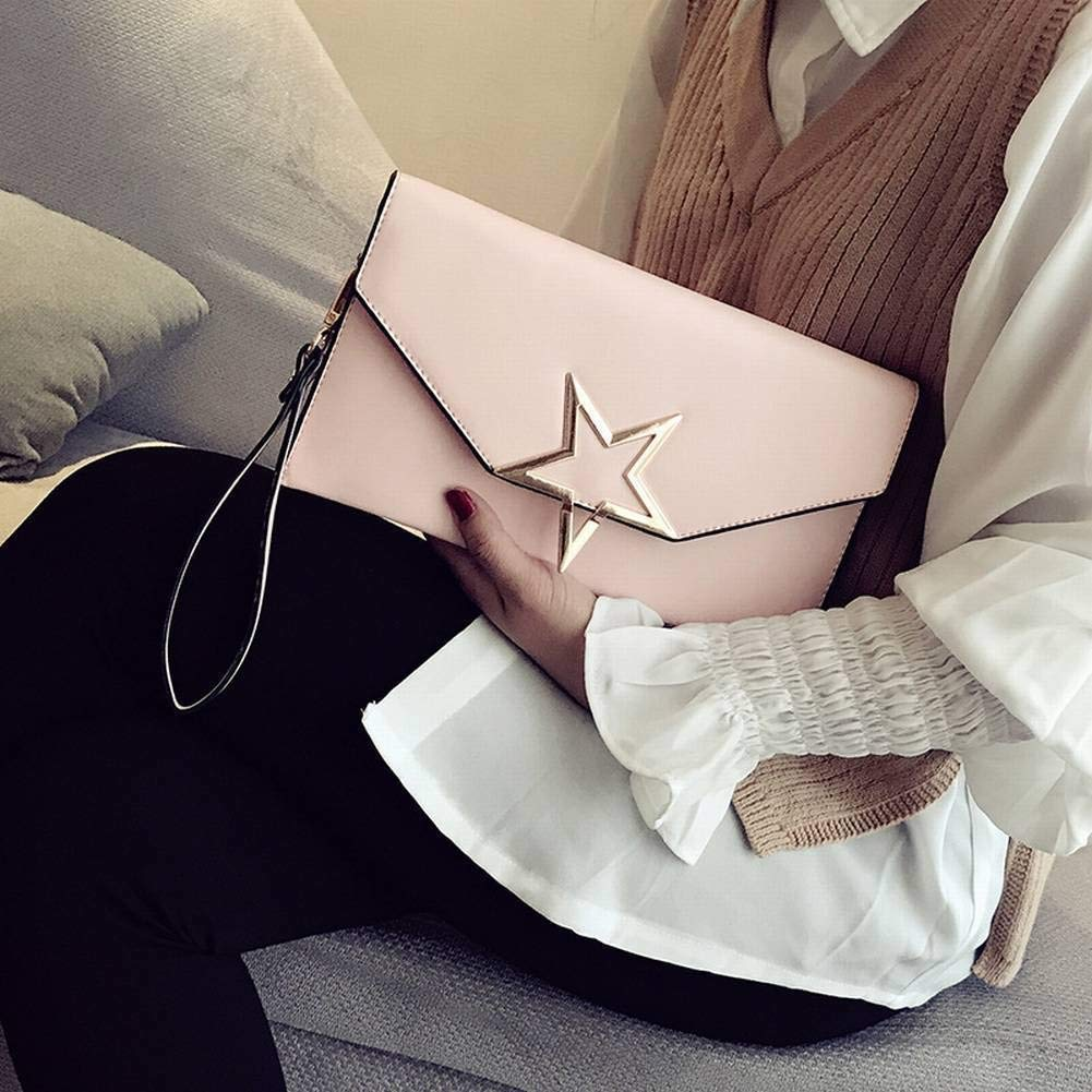 Pink Soft Creative Fashion Fashion MultiFunction Female Envelope Women's Bag Clutch Bag Crossbody Personality All Match Temperament Bag for Women Handbag (color   Black)