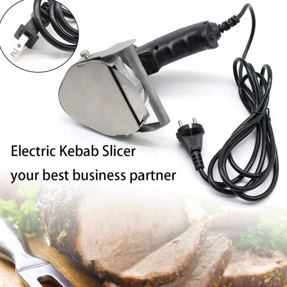 Wanlecy 80W Automatic Kebab Knife Meat Slicer Handhold Electric Shawarma Cutter Cutlery Catering Kitchen