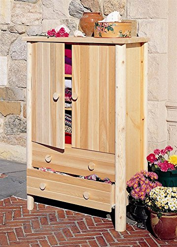 Rustic Natural Cedar Furniture Wardrobe Armoire from Rustic Warehouse