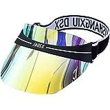 Visera solar de plástico con protección UV, holograma de ala ancha para deportes al aire última intervensión