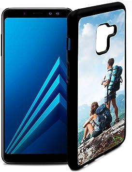 Fundas de móvil Samsung A8 Personalizadas con Fotos y Texto | Fundas Negras con los Laterales Flexibles para el Samsung Galaxy A8: Amazon.es: Electrónica