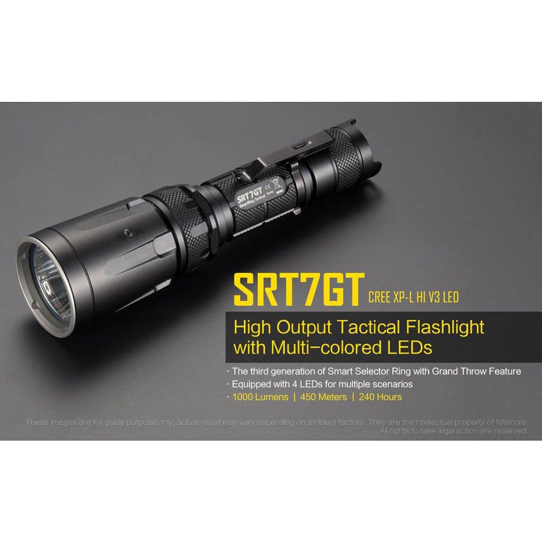 Nitecore SRT7GT Torcia tattica ad alta uscita con LED multicolori