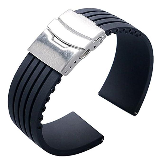 25 opinioni per Ritche- Cinturino impermeabile di ricambio in gomma siliconica 18/20/22mm per