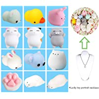 12 Pcs Mignon chat squishy anti stress squishy slow rising toys squeeze jouet jouets de soulagement du stress