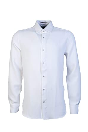 171c0ab1a5f48 ... Ted Baker Piccadi L Sleeve Textured Shirt White Amazon co uk Clothing
