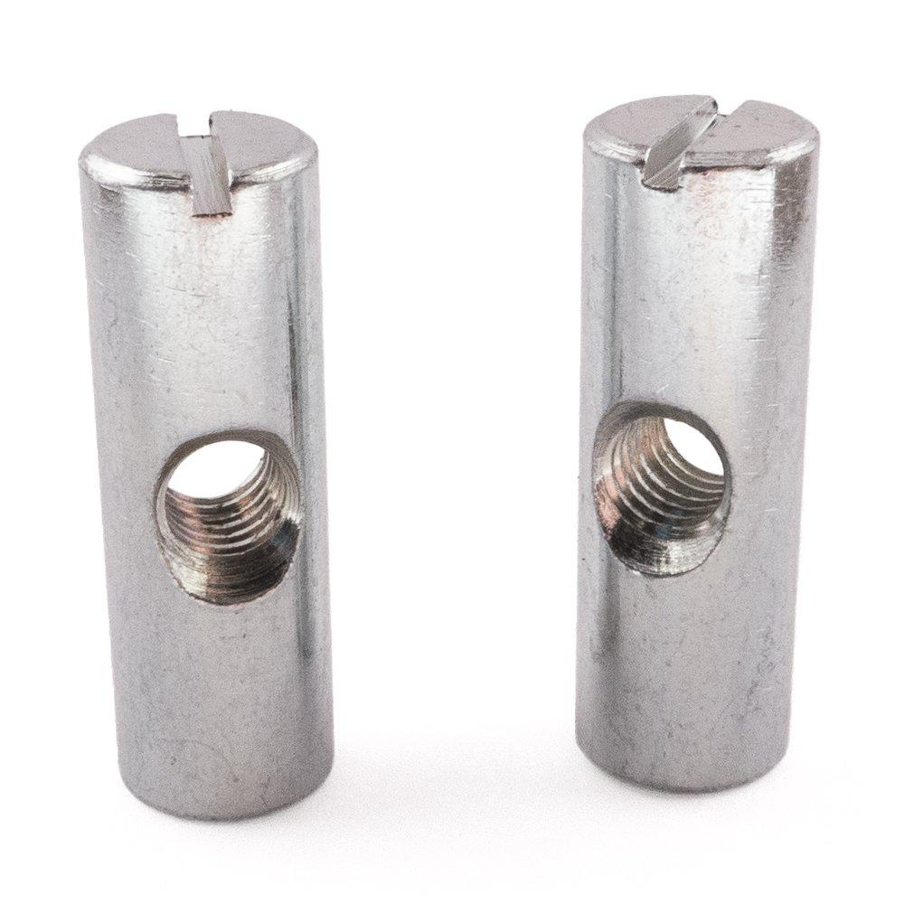 Kreuz Dü bel Barrel Muttern, Zink, Mitte Loch, M6 x 30, 25 Stü ck SD Products Ltd CDZP0090-25