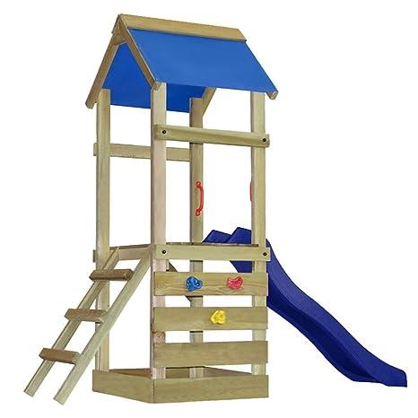 vidaxl casetta gioco da esterno bambini legno con scala e scivolo
