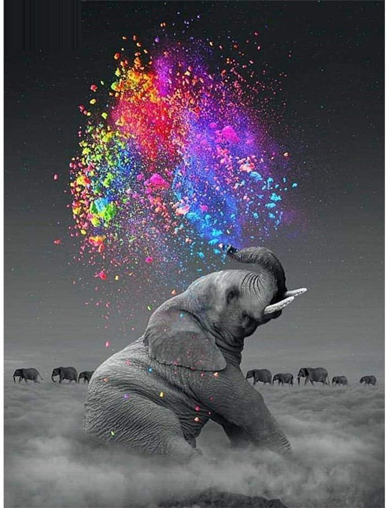 5d Pintura Diamante DIY círculo Completo Elefante Redondo de Diamantes para la Venta Serie de Diamantes Animales Arte Mosaico artesanía de Pared ristal Caballo ristal de Dia 40 * 50 cm