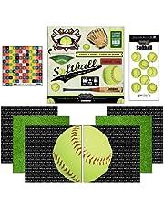 "Scrapbook Customs Go Big Softball Themed Paper and Stickers Scrapbook Kit, 12"" x 12"""