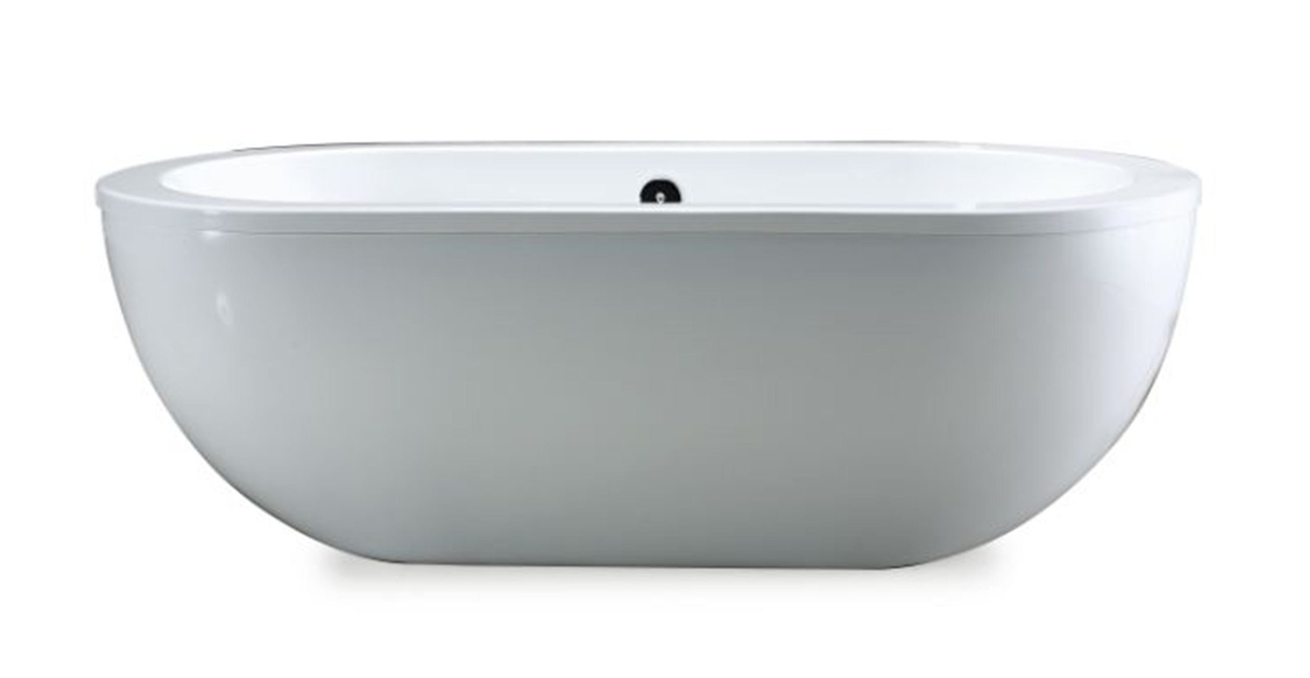 Ove Decors Serenity 71-Inch Freestanding Acrylic Bathtub, Glossy White by Ove Decors