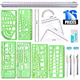 Glarks 16 Pieces Measuring Templates Building