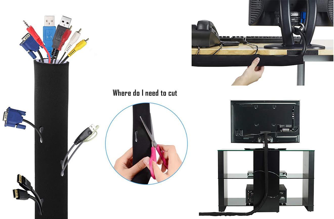 casa in velcro casa e ufficio reversibili manicotti per la gestione dei cavi CaLeQi computer PC per TV