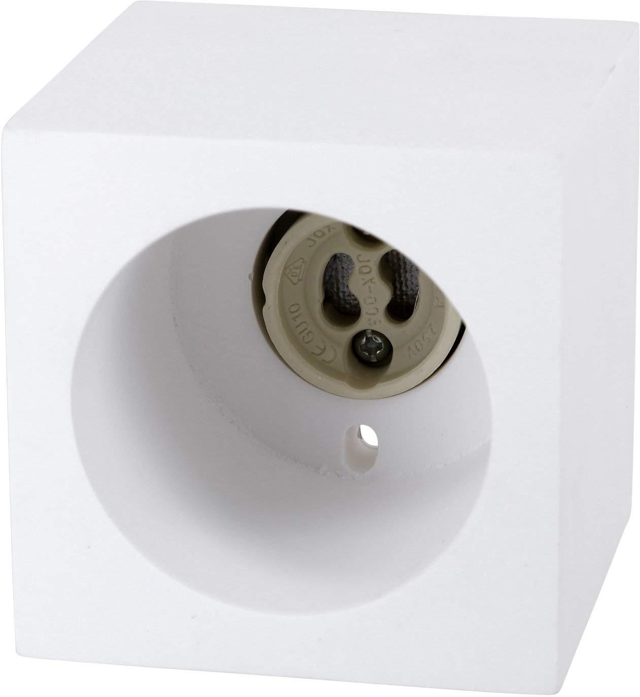 GU10, 230 V, cuadrado, 70 x 70 x 70 mm, di/ámetro de 30 mm Foco empotrable para techo