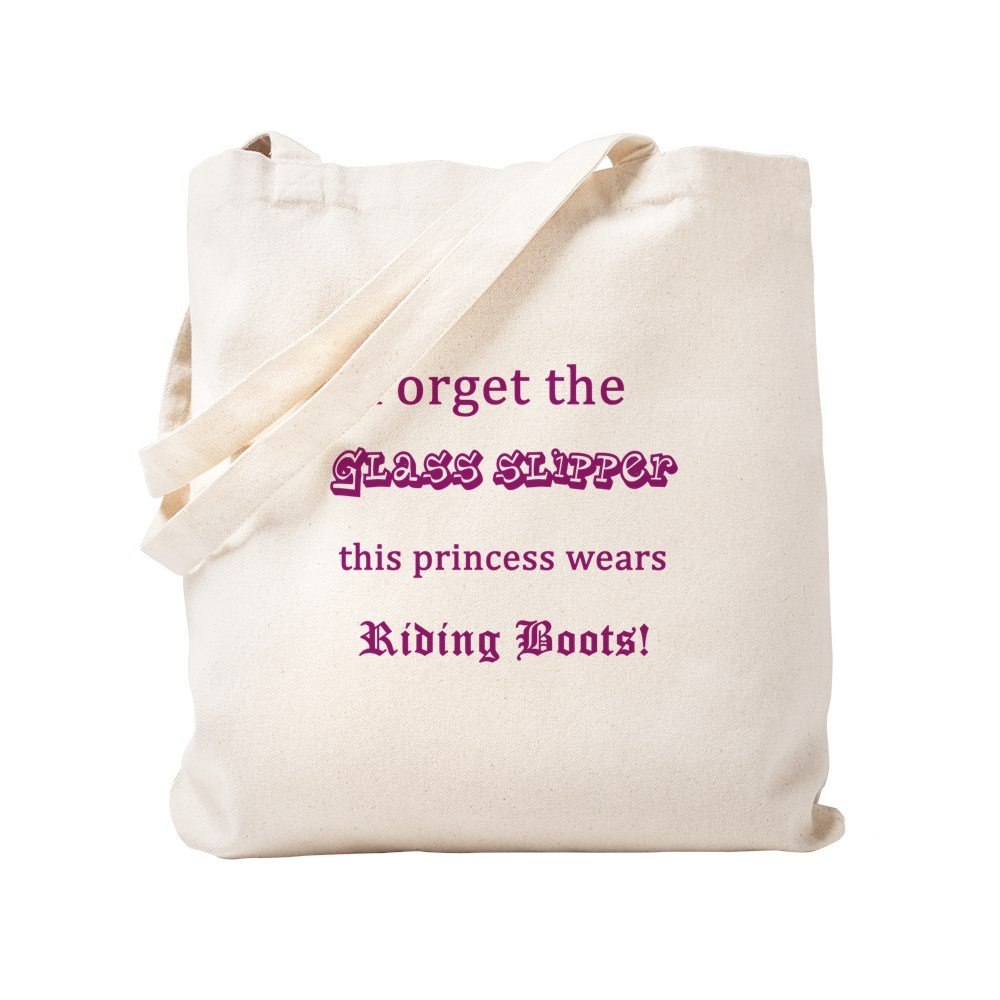 CafePress - No Glass Slipper - Riding Boots! - Natural Canvas Tote Bag, Cloth Shopping Bag