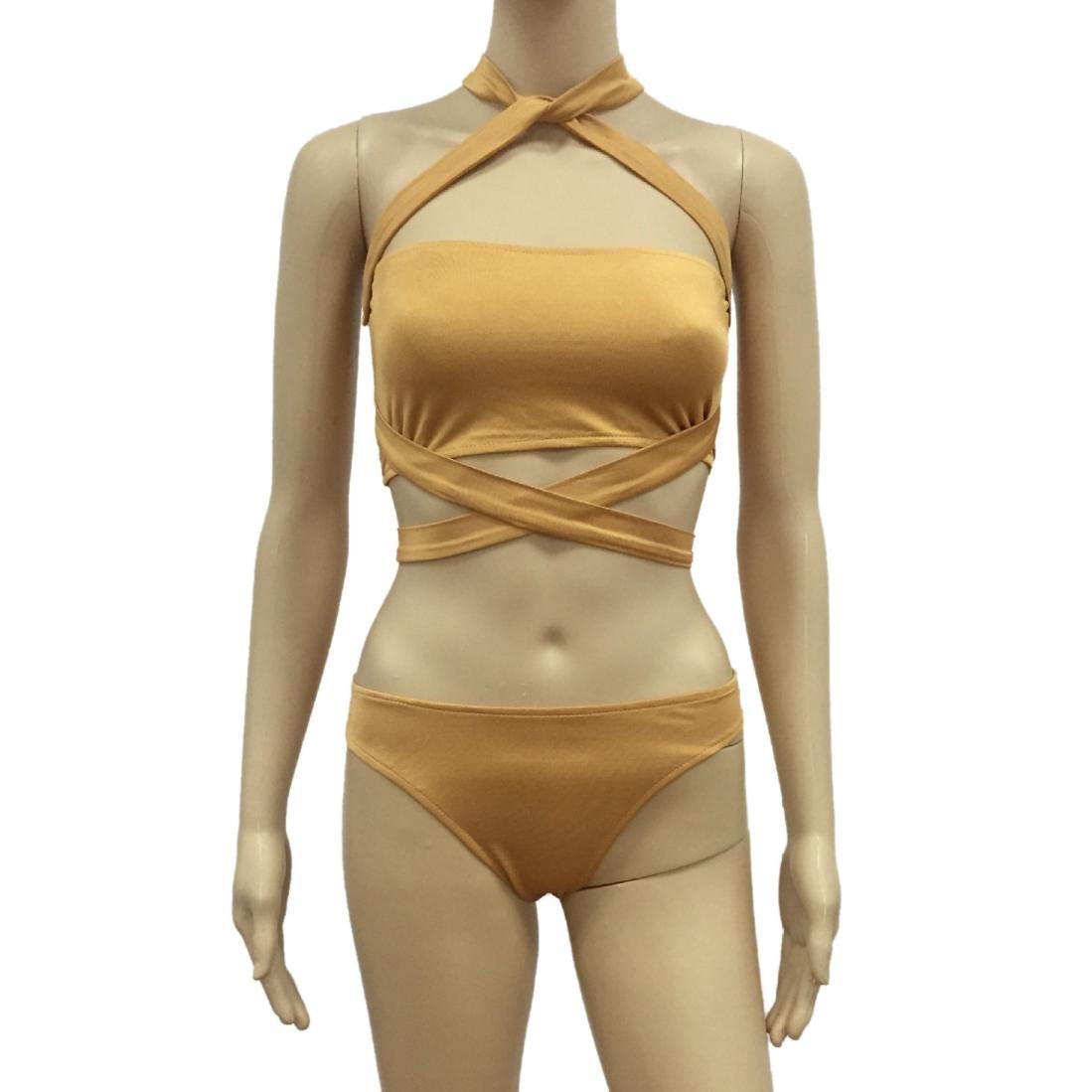 M, Blanco Xinantime Ba/ñadores Deportivas Mujer Vendaje Bba/ño de Una Pieza del Bikini