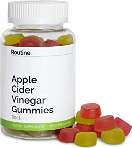 Routine Apple Cider Vinegar Gummies (with The Mother) - Detox, Reduce Bloating, and Improve Gut Health and Energy - All Natural and Delicious ACV Vitamin Gummy for Weight Loss and Keto Cleanse   60 CT