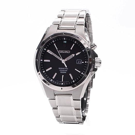 Seiko Kinetic SKA493P1 Reloj Automático para Hombres de Titanio: Amazon.es: Relojes