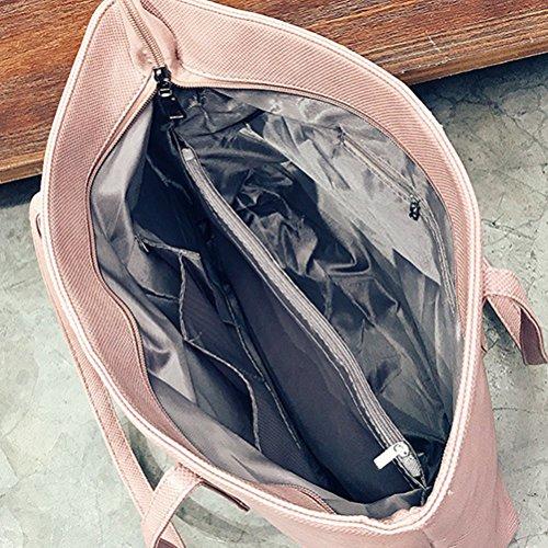 Capacidad Hombro Mujer Niñas Bolso Tamaño Rosado De Rosado color Fuweiencore Cuero Mujeres Tamaño Grande Para Un Xaxgpqtwq