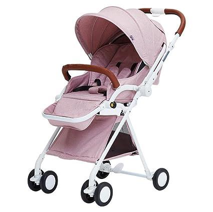 Carro de bebé alto paisaje puede sentarse horizontal plegable portátil de dos vías amortiguación coche recién