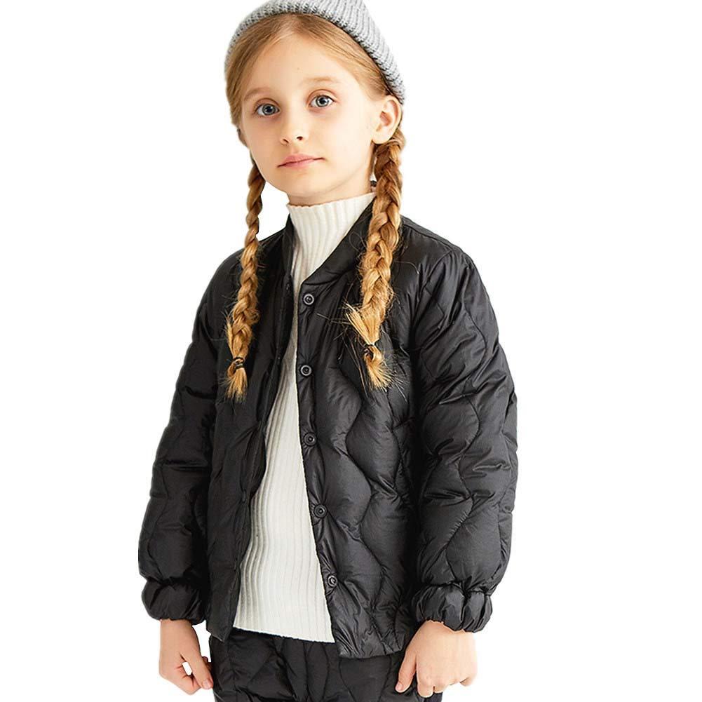 noir 120cm RATJ-Sjc Filles Style Doux Manteau Enfants épaississent Veste Mode Outwear, Manteau pour Enfants - pour l'hiver