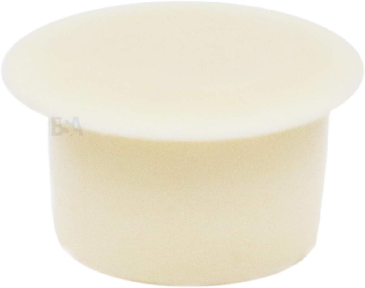 IROX MTP120816CI Lot de 20 bouchons cache-trou 12 mm Blanc Cr/ème Blanc Cr/ème Blanc Plastique Profondeur trou 8 mm T/ête 16 mm Cache trou pour meubles 12 mm