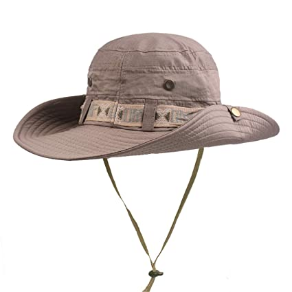 5f549671 YHBAO Fishing Sun Boonie Hat UV Protection Safari Cap Outdoor Hunting Hat  for Men and Women