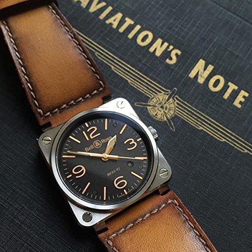 Custom Handmade Premium Calf Leather Watch Band for BR Bell and Ross Gunny Straps - Artdeco 2