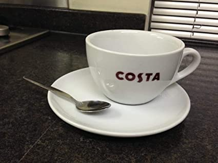 b9e86e30bf7 Costa Coffee Large Cup With Saucer And Spoon Medio Mug 454ml 16oz ...