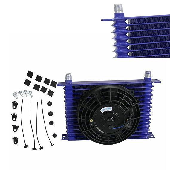 ALLOYWORKS Universal 15 fila 10 AN Aluminio ölkühler Recubierto con polvo Transmisión del motor & 7