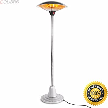 COLIBROX  24u0026quot; Electric Patio Heater Outdoor Free Stand Infrared  Radiant Adjustable Height.